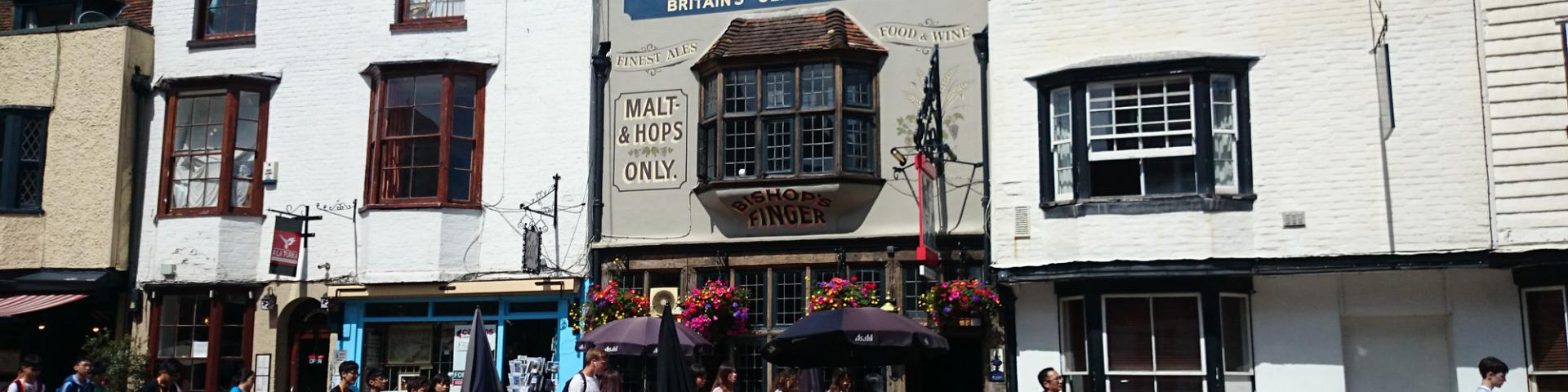 Bishops Finger, Canterbury - Welcome